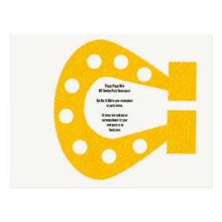 DIY Horseshoe Centerpiece Element Cowboy Party - Post Card