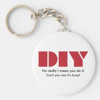 DIY I am busy Keychain