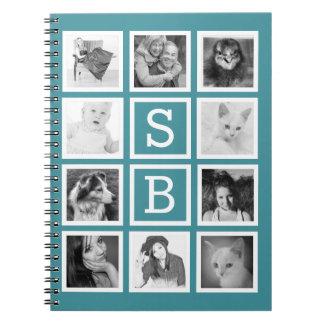 DIY Instagram 10 fotos e iniciales personalizadas Libros De Apuntes Con Espiral
