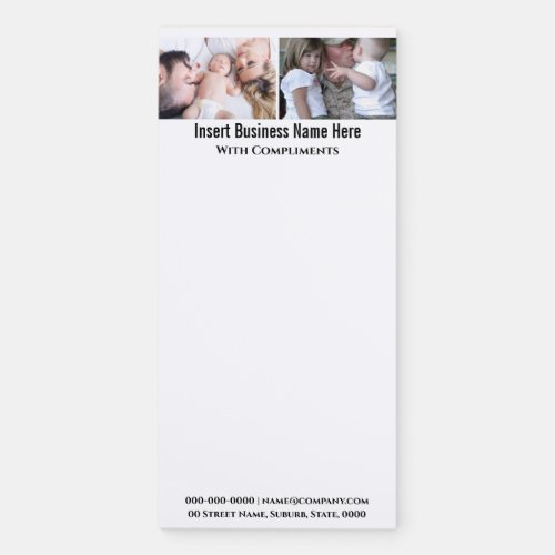 DIY instagram 2 photo family forces personalize Magnetic Notepad