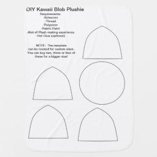DIY Kawaii Blob Plushie Receiving Blanket