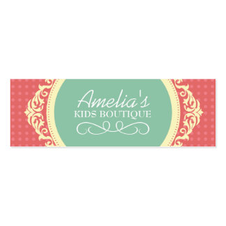 DIY - Kids Boutique Hang Tags Double-Sided Mini Business Cards (Pack Of 20)