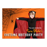 DIY Kids Halloween Costume Photo Birthday Party 5x7 Paper Invitation Card
