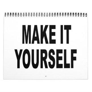 DIY le hacen usted mismo el calendario 2012