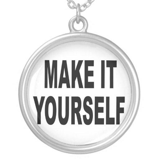 DIY le hacen usted mismo el collar Silver-Plated