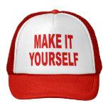DIY le hacen usted mismo la gorra de béisbol de en
