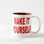 DIY le hacen usted mismo la taza de café