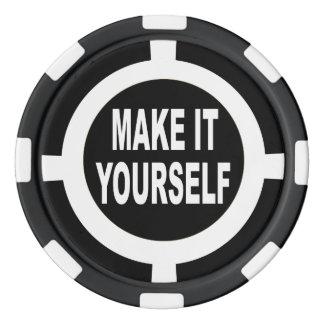 DIY lo hacen usted mismo blanco y negro Juego De Fichas De Póquer