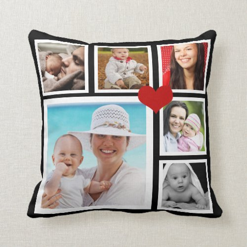 DIY Make a Personalized Photo Template Heart Throw Pillow