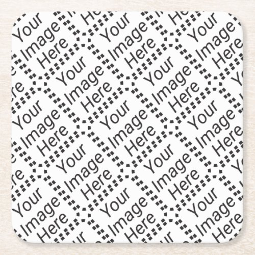 DIY Make it totally yours upload image add text Square Paper Coaster