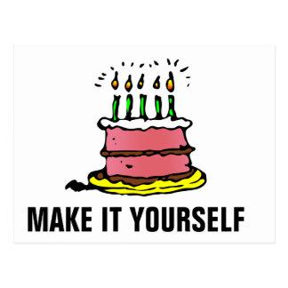 DIY Make It Yourself Birthday Party Invitation Pos Postcard