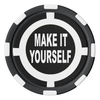 DIY Make It Yourself black and white Poker Chips Set