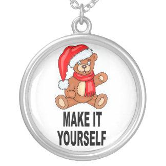 DIY Make It Yourself Christmas Bear Necklace