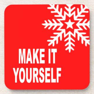 DIY Make It Yourself Christmas Snowflake Drink Coaster