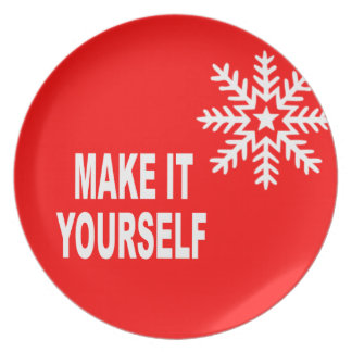 DIY Make It Yourself Christmas Snowflake Dinner Plates