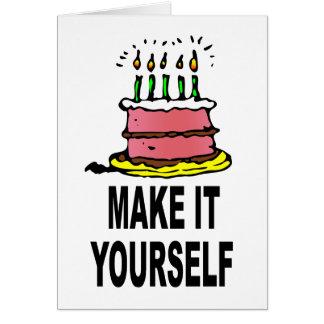 DIY Make It Yourself Custom Birthday Card