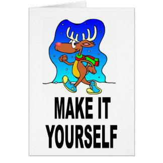 DIY Make It Yourself Custom Christmas Card