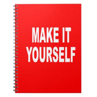 DIY Make It Yourself Notebook