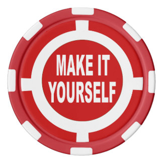 DIY Make It Yourself red and white Poker Chips