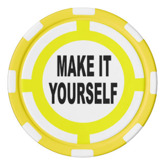 DIY Make It Yourself white and yellow Set Of Poker Chips