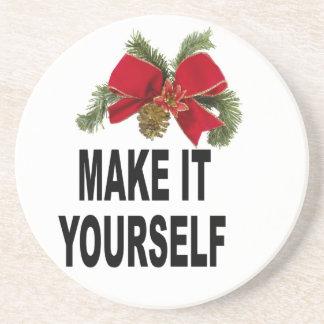 DIY Make It Youself Christmas Holiday Coaster