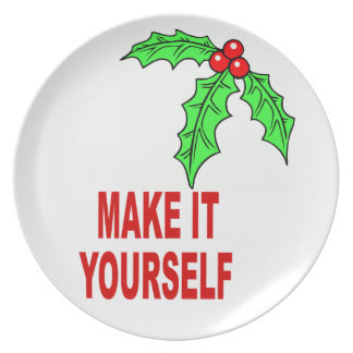 DIY Make Your Own Christmas Berries Holiday Plate