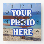 DIY Make Your Own Personalized Square Wall Clock