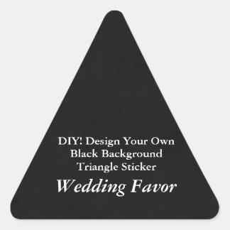 DIY Make Your Own Wedding Favor Black Triangle Triangle Sticker