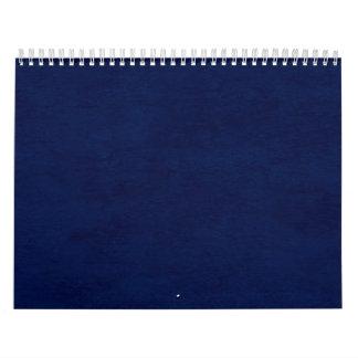 DIY Midnight Blue Background Custom Home Gift Idea Calendars