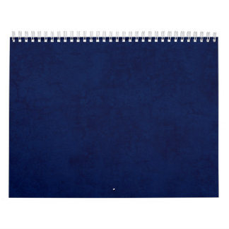 DIY Midnight Blue Background Custom Home Gift Idea Calendar