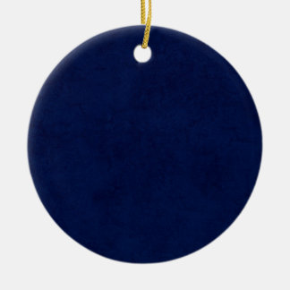 DIY Midnight Blue Background Custom Home Gift Idea Double-Sided Ceramic Round Christmas Ornament