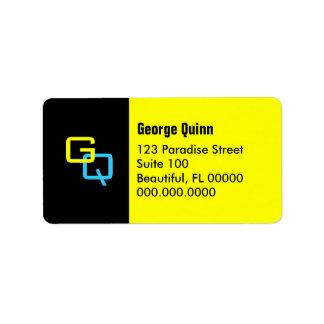 "DIY Monogram ~ 18 Address Labels 1 1/4"" x 2 3/8"