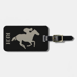 DIY Monogram Aluminum Silver Race Horse/Any Color Luggage Tag