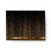 DIY Monogram Lined Black  and Gold Star Shower Envelope