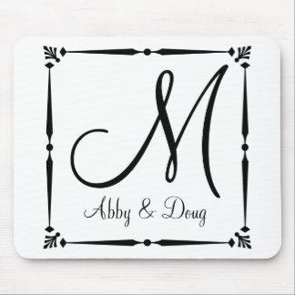 DIY Monogram template with decorative border Mousepads