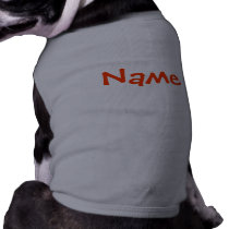 DIY Name - Dog Apparel Tank Top Grey