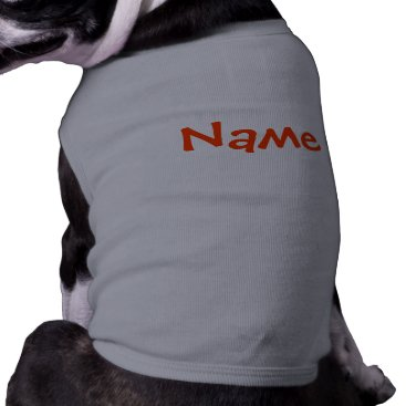 galleriaofart DIY Name - Dog Apparel Tank Top Grey