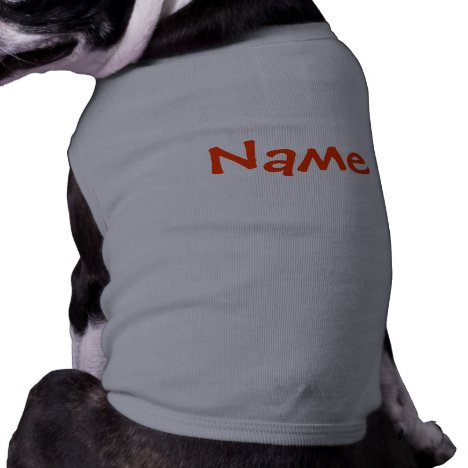 DIY Name - Dog Apparel Tank Top Grey