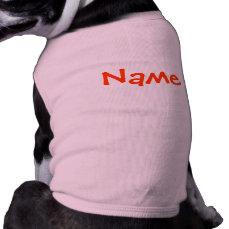 DIY Name - Dog Apparel Tank Top Pink
