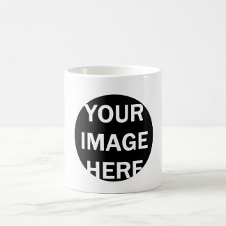 DIY One-of-a-kind Circle Frame Photo Gift Item Coffee Mug