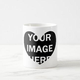 DIY One-of-a-kind HEART Frame Photo 6 Coffee Mug