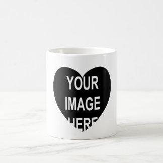 DIY One-of-a-kind Heart Frame Photo Gift Item Coffee Mug