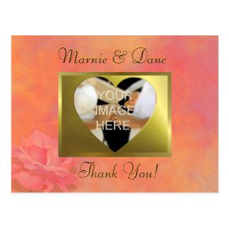 DIY Orange Wedding Thank Your Card   Flower Set Postcards
