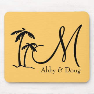 DIY Palm Tree Destination Logo Mouse Pad