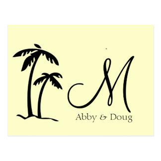 DIY Palm Tree Destination Logo Postcard