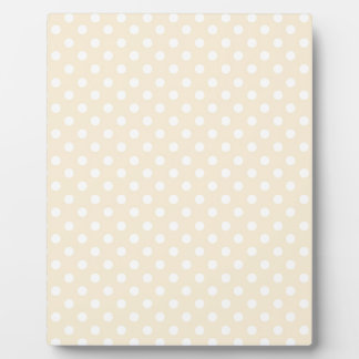 DIY Peach Polka Dot Background Zazzle Gift Plaque
