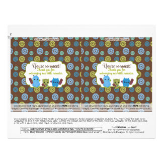 Candy Bar Wrappers Flyers & Programs | Zazzle
