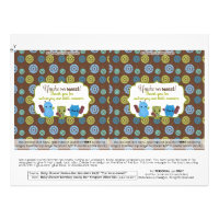 DIY Peek a Boo Monsters 1.55oz Candy Bar Wrappers Flyer