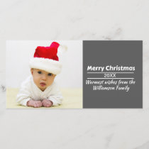 DIY Photo Christmas Card - Add Pic and Text!