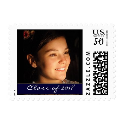 DIY Photo graduation template Postage
